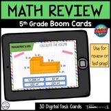 5th Grade Math Review   Boom Cards {Flash Freebie}