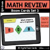 5th Grade Math Review Boom Cards Set 3
