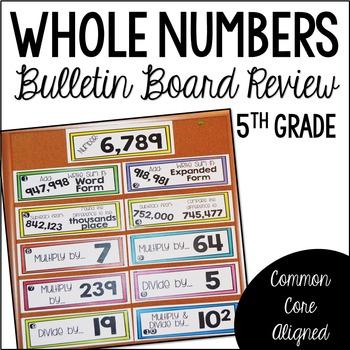 5th Grade Math Review (Bulletin Board Review BUNDLE)