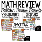 5th Grade Math Review (Bulletin Board Review BUNDLE)