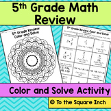5th Grade Math Review Color and Solve