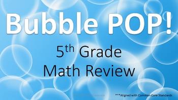 5th Grade Math Common Core Math Test Prep Review Game - AL