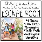 5th Grade Math Review Escape Room