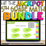 5th Grade Math Review Game Show Bundle Google Slides   Distance Learning