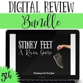 Distance Learning 5th Grade Math Review Game Stinky Feet Bundle