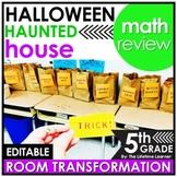 5th Grade Math Review | Halloween Room Transformation