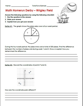 5th Grade Math Review - Homerun Derby! Great Test Prep*