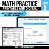 5th Grade Math Review Pack | Google Classroom™ | Distance