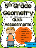 5th Grade Math Review: Quick Assessments – Geometry – 5.G
