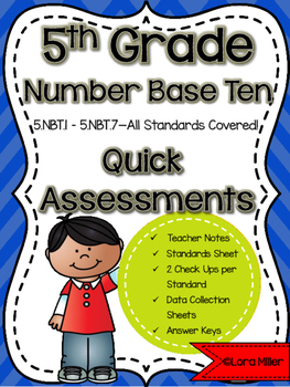 5th Grade Math Review: Quick Assessments – Number and Oper