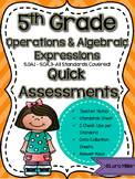 5th Grade Math Review: Quick Assessments–Operations & Algebraic Thinking – 5.OA