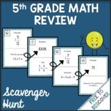 5th Grade Math Review Scavenger Hunt Activity