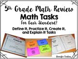 5th Grade Math Review Tasks