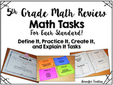5th Grade Math Review Tasks
