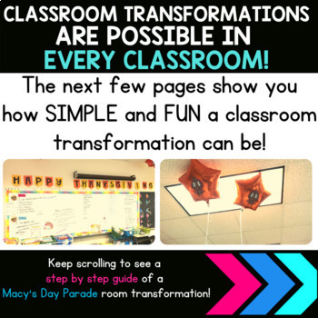 5th Grade Math Review | Thanksgiving Classroom Transformation