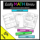 5th Grade Math Review: Weeks 21 - 24