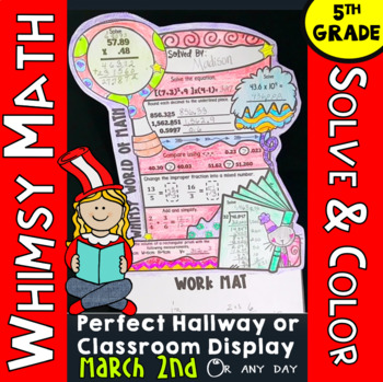 "5th Grade Math Review: ""Whimsy World of Math"": Perfect for March 2nd"