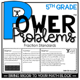 5th Grade Math Rigorous Word Problems Fractions Standards 5.NF.1, 5.NF.2, 5.NF.3