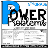 5th Grade Math Rigorous Word Problems Geometry Standards 5