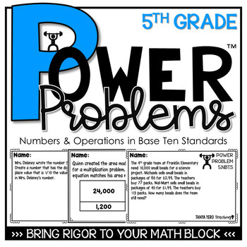 5th Grade Math Rigorous Word Problems Numbers & Operations in Base Ten Standards