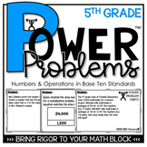 5th Grade Word Problems Math Spiral Review Place Value Pri