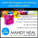 5th Grade Math RtI Assessments & Intervention Binder Fract