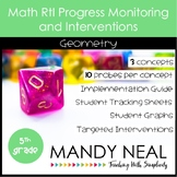 5th Grade Math RtI Assessments & Intervention Binder Geome