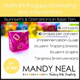 5th Grade Math RtI Assessments & Intervention Binder NBT Bundle