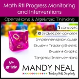5th Grade Math RtI Assessments & Intervention Binder OA Bundle