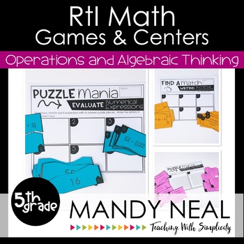 5th Grade Math RtI Intervention Games and Centers for OA