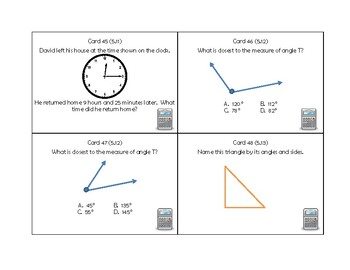 5th Grade Math SOL Review Task Cards