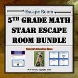 5th Grade Math STAAR Escape Room Bundle (Save 20%!)