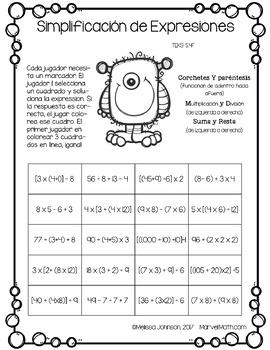 5th Grade Math STAAR Prep: 15 No Prep SPANISH Games