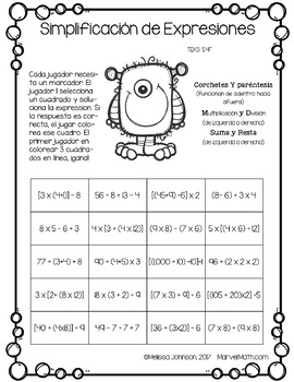 5th Grade Math STAAR Prep: 15 No Prep SPANISH Games