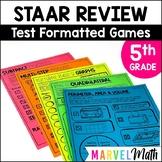 5th Grade Math STAAR Prep: 15 No Prep Games by Marvel Math