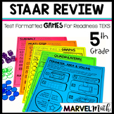 5th Grade Math STAAR Prep: 15 No Prep Games by Marvel Math