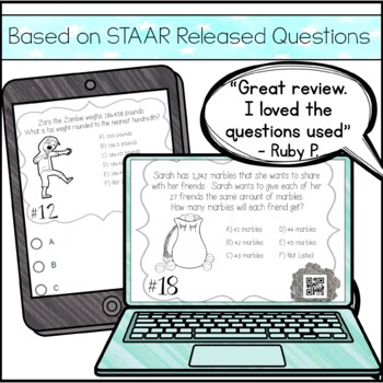 5th Grade Math STAAR Review & Prep - Task Cards by Amazing ...