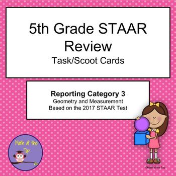 5th Grade Math STAAR Reporting Category 3 Task/Scoot Cards - 2017 STAAR