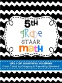 5th Grade Math TEKS, I Can Statements, Vocabulary
