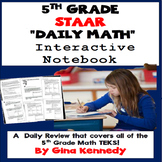 5th Grade STAAR Math Daily Reivew, Interactive Notebook Co