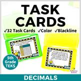 5th GRADE MATH STAAR TASK CARDS {Decimals} TEKS 5.3D 5.3E 5.3F 5.3G 5.3K