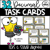 5th GRADE MATH STAAR TASK CARDS {Decimals} TEKS 5.3D 5.3E 5.3F 5.3G 5.3K