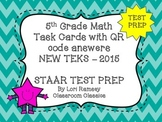 5th Grade Math STAAR Task Cards - TEST PREP