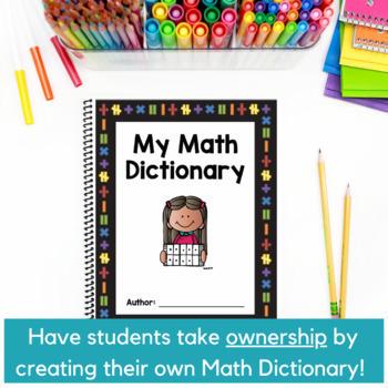 5th Grade Math STAAR VOCABULARY - My Math Dictionary - 100% TEKS Aligned