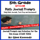 5th Grade Math STAAR Journal, Prompts and Activities for A