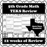 5th Grade Math TEKS Daily Math Review {12 Weeks!}
