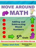 5th Grade Math Scavenger Hunt: Adding and Subtracting Mixe