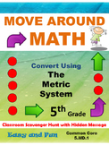 5th Grade Math Scavenger Hunt: Metric Measurement Conversion: 5.MD.1