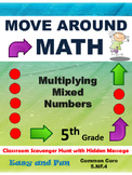 5th Grade Math Scavenger Hunt: Multiplying Mixed Numbers: