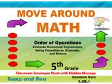 5th Grade Math Scavenger Hunt: Parenthesis, Brackets, and